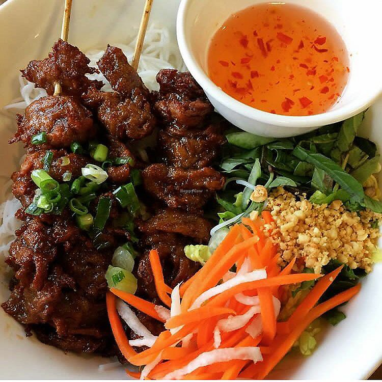 """Photo of Pho Vina  by <a href=""""/members/profile/DanielaHansen"""">DanielaHansen</a> <br/>Vegan grilled pork with vermicelli  <br/> September 5, 2017  - <a href='/contact/abuse/image/24270/301012'>Report</a>"""