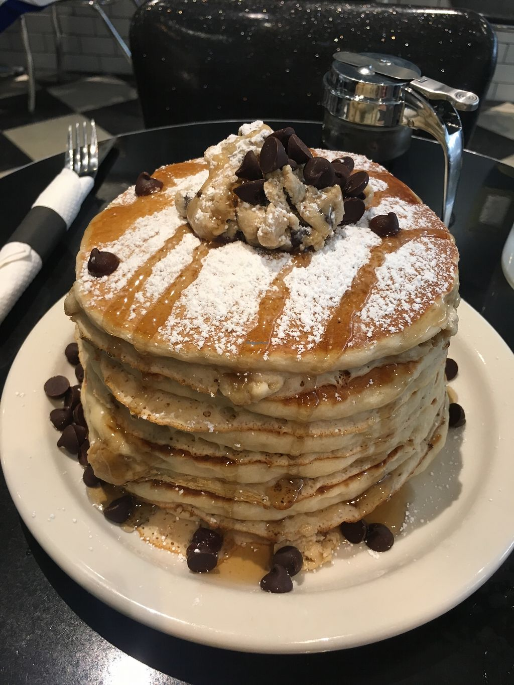 "Photo of Champs Diner  by <a href=""/members/profile/SkyFitzgerald"">SkyFitzgerald</a> <br/>Cookie dough pancakes tall stack <br/> October 20, 2017  - <a href='/contact/abuse/image/24286/316939'>Report</a>"