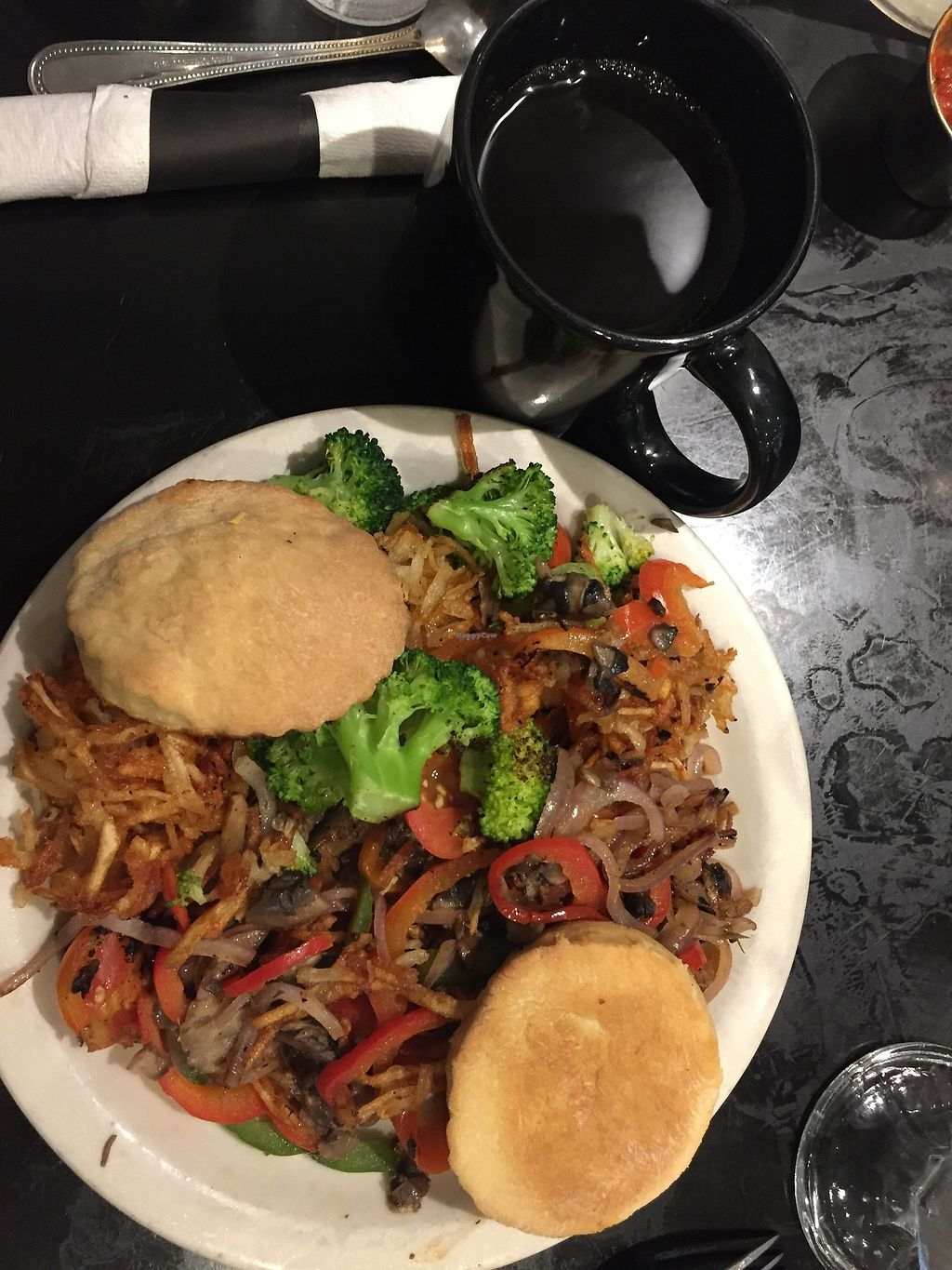 "Photo of Champs Diner  by <a href=""/members/profile/Yasminesan"">Yasminesan</a> <br/>Veggie hash <br/> October 29, 2017  - <a href='/contact/abuse/image/24286/319736'>Report</a>"