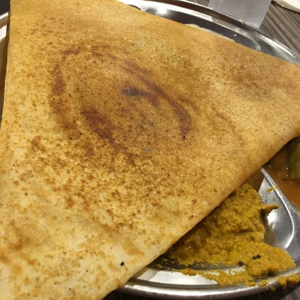 """Photo of CLOSED: Radhey's Pure Vegetarian  by <a href=""""/members/profile/One%20Arab%20Vegan"""">One Arab Vegan</a> <br/>Masala Dosa <br/> November 3, 2015  - <a href='/contact/abuse/image/24292/123623'>Report</a>"""