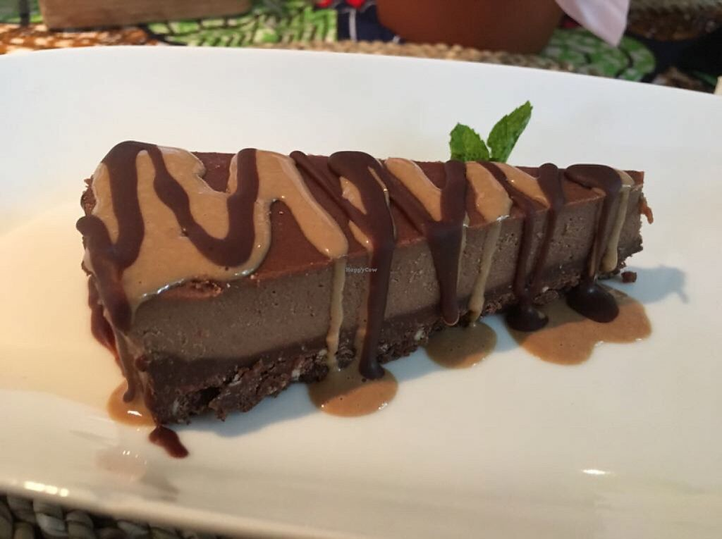 "Photo of Leafy Greens Cafe  by <a href=""/members/profile/VargVikernes"">VargVikernes</a> <br/>Chocolate Caramel Tart <br/> May 15, 2017  - <a href='/contact/abuse/image/24300/258963'>Report</a>"