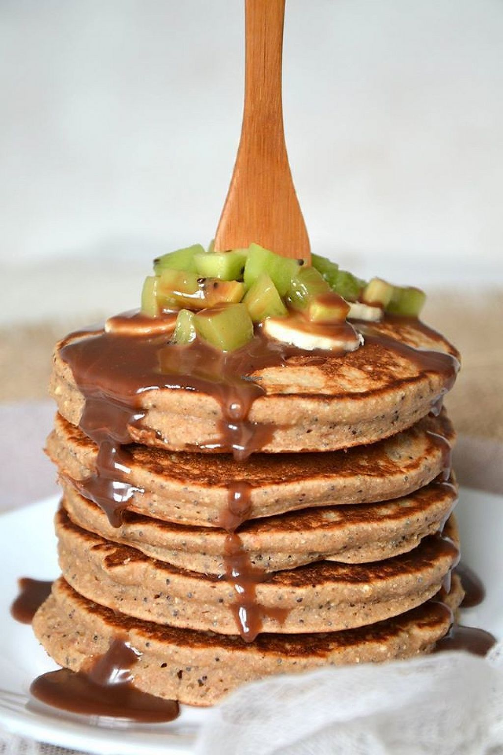 """Photo of La Vie Claire - Republique  by <a href=""""/members/profile/community"""">community</a> <br/>vegan hazelnut pancakes  <br/> February 4, 2017  - <a href='/contact/abuse/image/24327/221794'>Report</a>"""