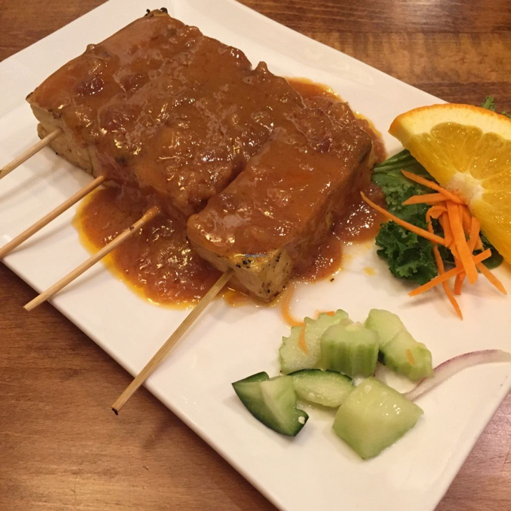 """Photo of Thai Essence  by <a href=""""/members/profile/happycowgirl"""">happycowgirl</a> <br/>tofu satay <br/> February 29, 2016  - <a href='/contact/abuse/image/24357/138228'>Report</a>"""