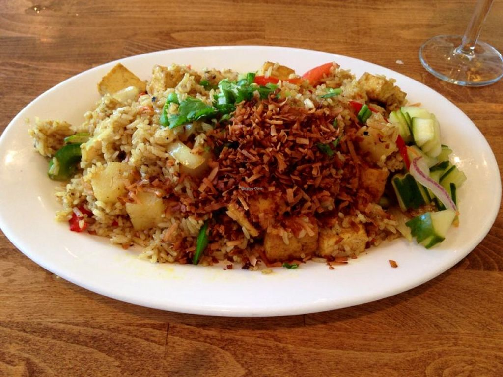 """Photo of Thai Essence  by <a href=""""/members/profile/Marsha48"""">Marsha48</a> <br/>Delicious dinner option! Curry pineapple fried rice  <br/> March 31, 2016  - <a href='/contact/abuse/image/24357/142134'>Report</a>"""