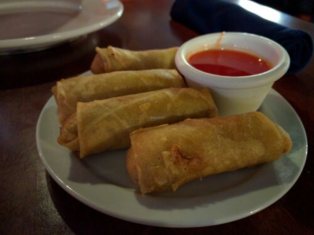 """Photo of Dragon Palace  by <a href=""""/members/profile/The%20Hungry%20Vegan"""">The Hungry Vegan</a> <br/>Egg Rolls don't have eggs! <br/> December 19, 2015  - <a href='/contact/abuse/image/24358/129171'>Report</a>"""