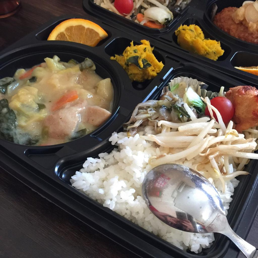 """Photo of Vegetable Kitchen Bar Aju  by <a href=""""/members/profile/StephieLin"""">StephieLin</a> <br/>daily lunch set - white sauce veggie stew  <br/> April 25, 2015  - <a href='/contact/abuse/image/24359/100178'>Report</a>"""