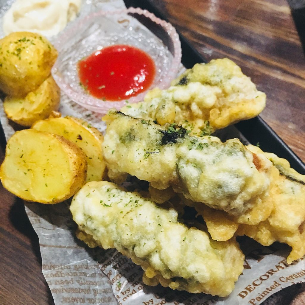 """Photo of Vegetable Kitchen Bar Aju  by <a href=""""/members/profile/AndreaSuleiman"""">AndreaSuleiman</a> <br/>Koya Tofu Fish n Chips <br/> May 6, 2018  - <a href='/contact/abuse/image/24359/395931'>Report</a>"""