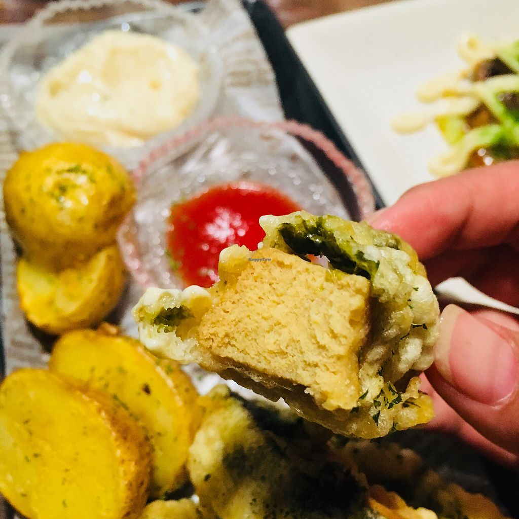 """Photo of Vegetable Kitchen Bar Aju  by <a href=""""/members/profile/AndreaSuleiman"""">AndreaSuleiman</a> <br/>Heavenly Fried Koya Tofu <br/> May 6, 2018  - <a href='/contact/abuse/image/24359/395932'>Report</a>"""