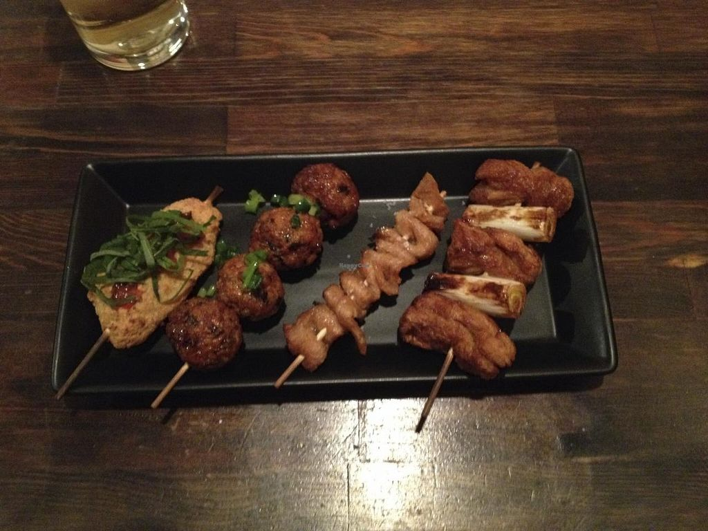 """Photo of Vegetable Kitchen Bar Aju  by <a href=""""/members/profile/beckettthedog"""">beckettthedog</a> <br/>mock chicken skewer <br/> January 14, 2015  - <a href='/contact/abuse/image/24359/90395'>Report</a>"""