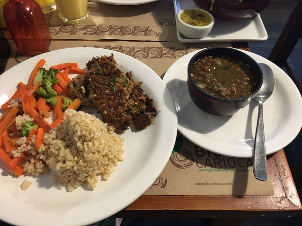"""Photo of Bio Carioca  by <a href=""""/members/profile/manic-organic"""">manic-organic</a> <br/>Set menu: Curried Indian lentil stew with banana and apple, brown rice, mixed vegetables  <br/> October 23, 2015  - <a href='/contact/abuse/image/24367/122350'>Report</a>"""