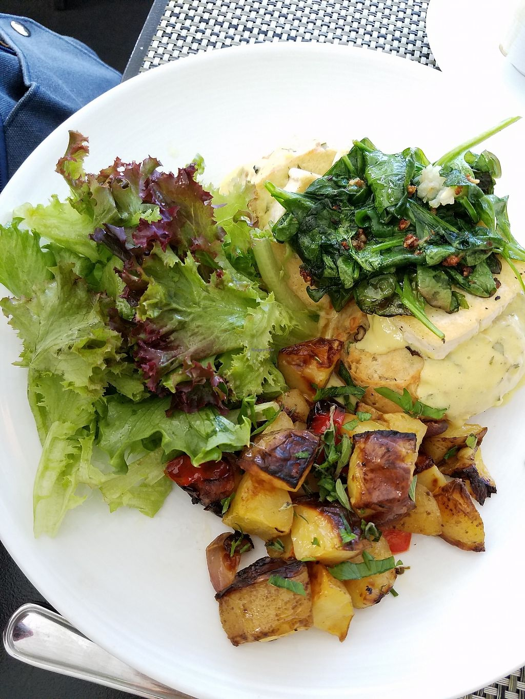"""Photo of True Bistro  by <a href=""""/members/profile/MoniqueGS"""">MoniqueGS</a> <br/>Tofu Benedict <br/> July 17, 2017  - <a href='/contact/abuse/image/24373/281440'>Report</a>"""