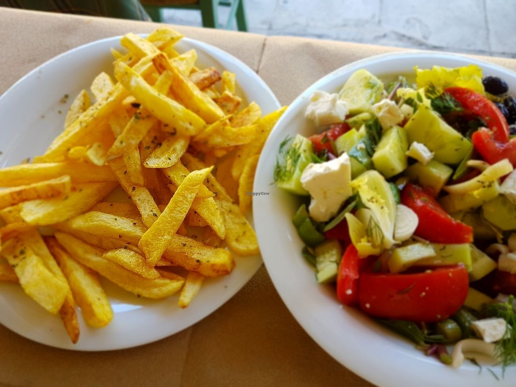"Photo of To Stachi - Wheat  by <a href=""/members/profile/Monja"">Monja</a> <br/>Fried Potatoes und Greek Salad  <br/> July 5, 2017  - <a href='/contact/abuse/image/24401/276826'>Report</a>"