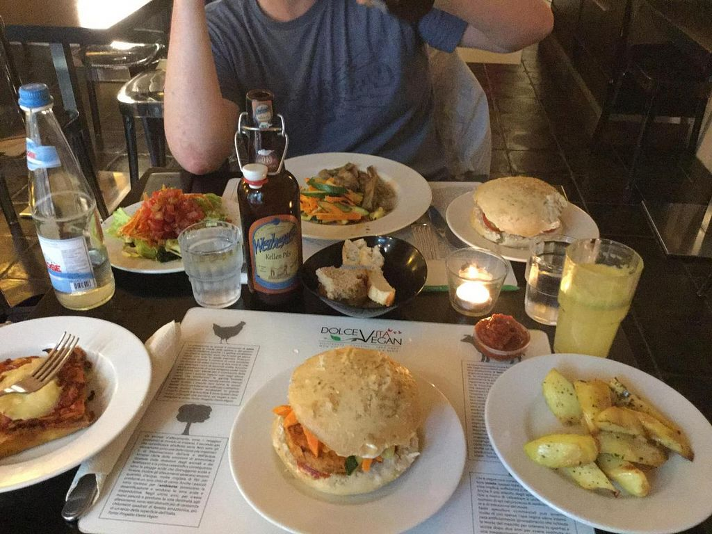 """Photo of Dolce Vegan  by <a href=""""/members/profile/Tac0_flavored_kisses"""">Tac0_flavored_kisses</a> <br/>Ordered most of the menu <br/> June 6, 2015  - <a href='/contact/abuse/image/24464/104942'>Report</a>"""