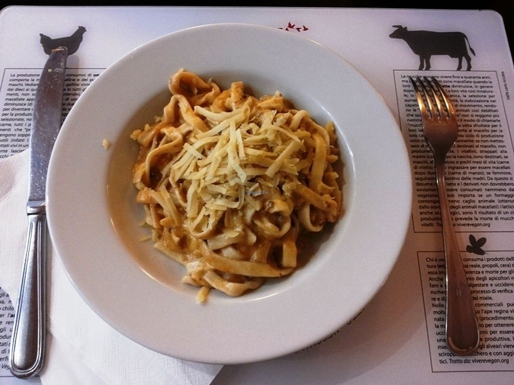 """Photo of Dolce Vegan  by <a href=""""/members/profile/Jollyhamster"""">Jollyhamster</a> <br/>Vegan tagliatelle <br/> July 19, 2016  - <a href='/contact/abuse/image/24464/160957'>Report</a>"""