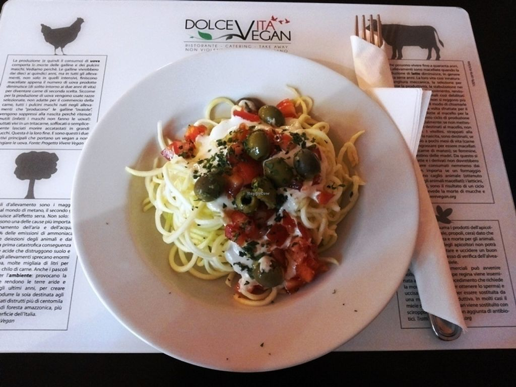 """Photo of Dolce Vegan  by <a href=""""/members/profile/Jollyhamster"""">Jollyhamster</a> <br/>Raw spaghetti <br/> July 19, 2016  - <a href='/contact/abuse/image/24464/160959'>Report</a>"""