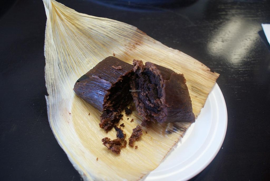 "Photo of Casa de Tamales  by <a href=""/members/profile/RachaelSera"">RachaelSera</a> <br/>Chocolate tamale. OMG. Do not skip dessert! <br/> June 1, 2015  - <a href='/contact/abuse/image/24482/104450'>Report</a>"