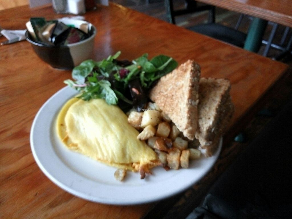 """Photo of The Wallflower Modern Diner  by <a href=""""/members/profile/MarsiaMS"""">MarsiaMS</a> <br/>Vegan omelette <br/> November 8, 2017  - <a href='/contact/abuse/image/24494/323375'>Report</a>"""