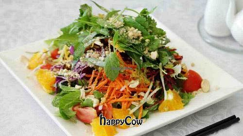 "Photo of Loving Hut  by <a href=""/members/profile/happymeow"">happymeow</a> <br/>Burmese salad, raw vegan option! <br/> March 31, 2013  - <a href='/contact/abuse/image/24528/46312'>Report</a>"