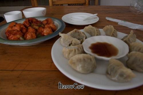 """Photo of CLOSED: Lu Fu Yuan  by <a href=""""/members/profile/Virogen"""">Virogen</a> <br/>Dumplings and Sweet and Sour Pork <br/> October 4, 2012  - <a href='/contact/abuse/image/24552/38682'>Report</a>"""