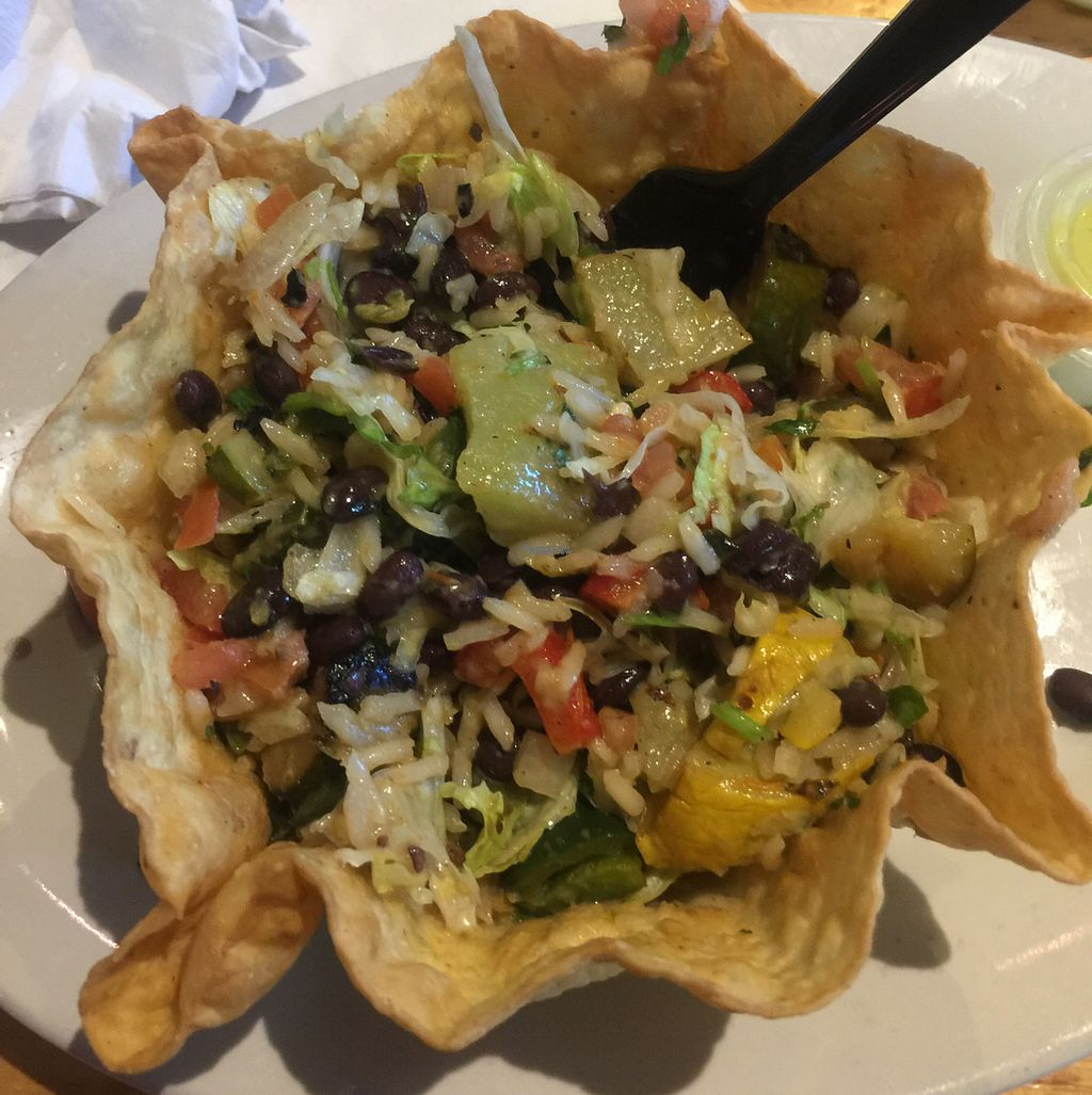 """Photo of Felipe's  by <a href=""""/members/profile/JennyBirruetaArreola"""">JennyBirruetaArreola</a> <br/>vegan taco salad with grilled veggies  <br/> October 21, 2016  - <a href='/contact/abuse/image/24575/183417'>Report</a>"""