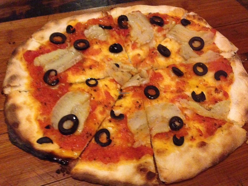"""Photo of As You Like  by <a href=""""/members/profile/Stevie"""">Stevie</a> <br/>Cheeseless pizza (no vegan cheese) <br/> July 3, 2016  - <a href='/contact/abuse/image/24577/157518'>Report</a>"""