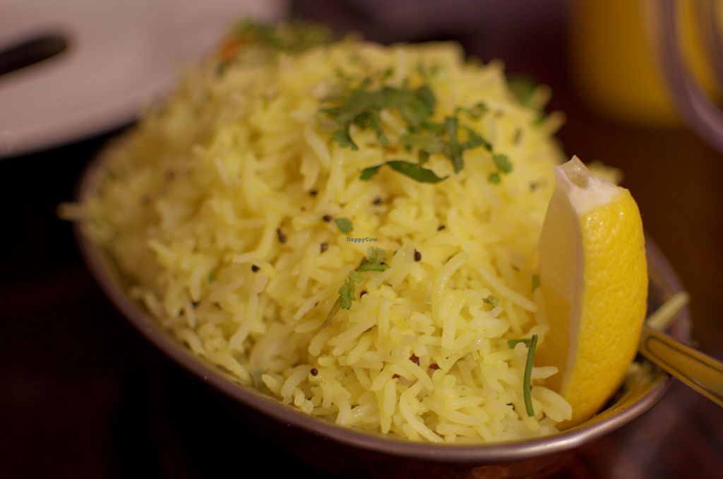 """Photo of Sampoorna Vegetarian Surprise  by <a href=""""/members/profile/chocoholicPhilosophe"""">chocoholicPhilosophe</a> <br/>Lemon Rice <br/> August 15, 2015  - <a href='/contact/abuse/image/24582/113720'>Report</a>"""
