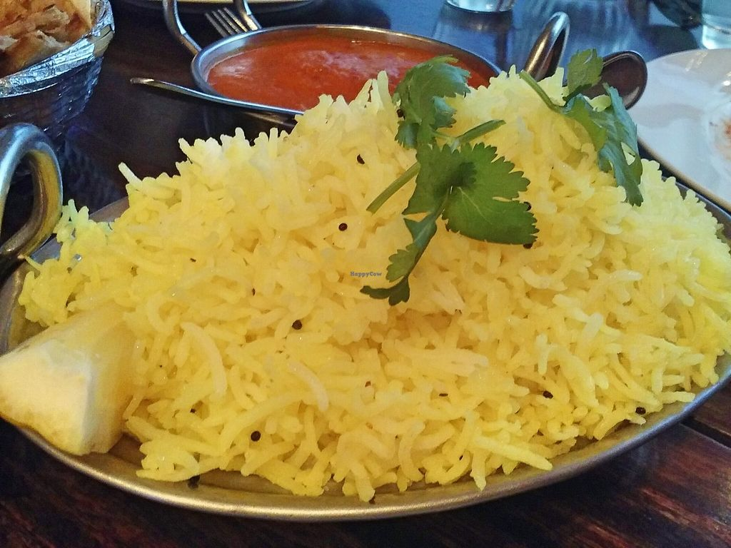 """Photo of Sampoorna Vegetarian Surprise  by <a href=""""/members/profile/verbosity"""">verbosity</a> <br/>Lemon rice <br/> October 30, 2015  - <a href='/contact/abuse/image/24582/123240'>Report</a>"""