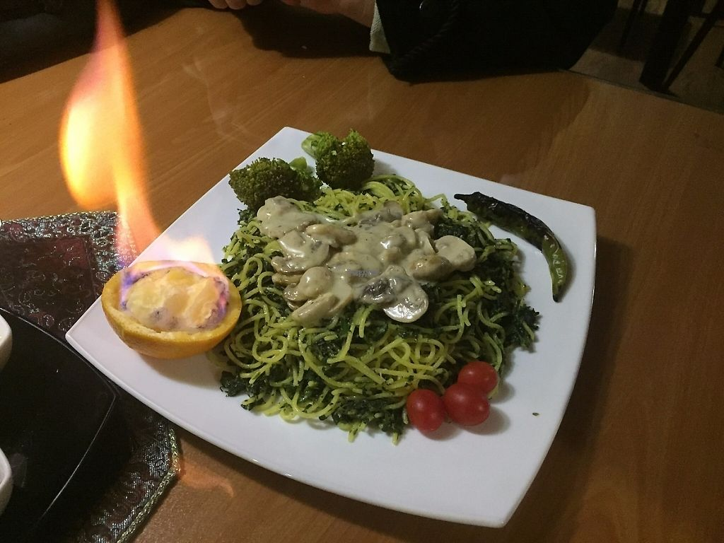 """Photo of Zamin  by <a href=""""/members/profile/H"""">H</a> <br/>Spinach & Mushroom Spaghetti  <br/> December 13, 2016  - <a href='/contact/abuse/image/24618/200821'>Report</a>"""