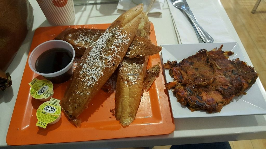 """Photo of Scramble  by <a href=""""/members/profile/VegManda"""">VegManda</a> <br/>French toast and sweet potato hash <br/> January 20, 2018  - <a href='/contact/abuse/image/24630/348973'>Report</a>"""