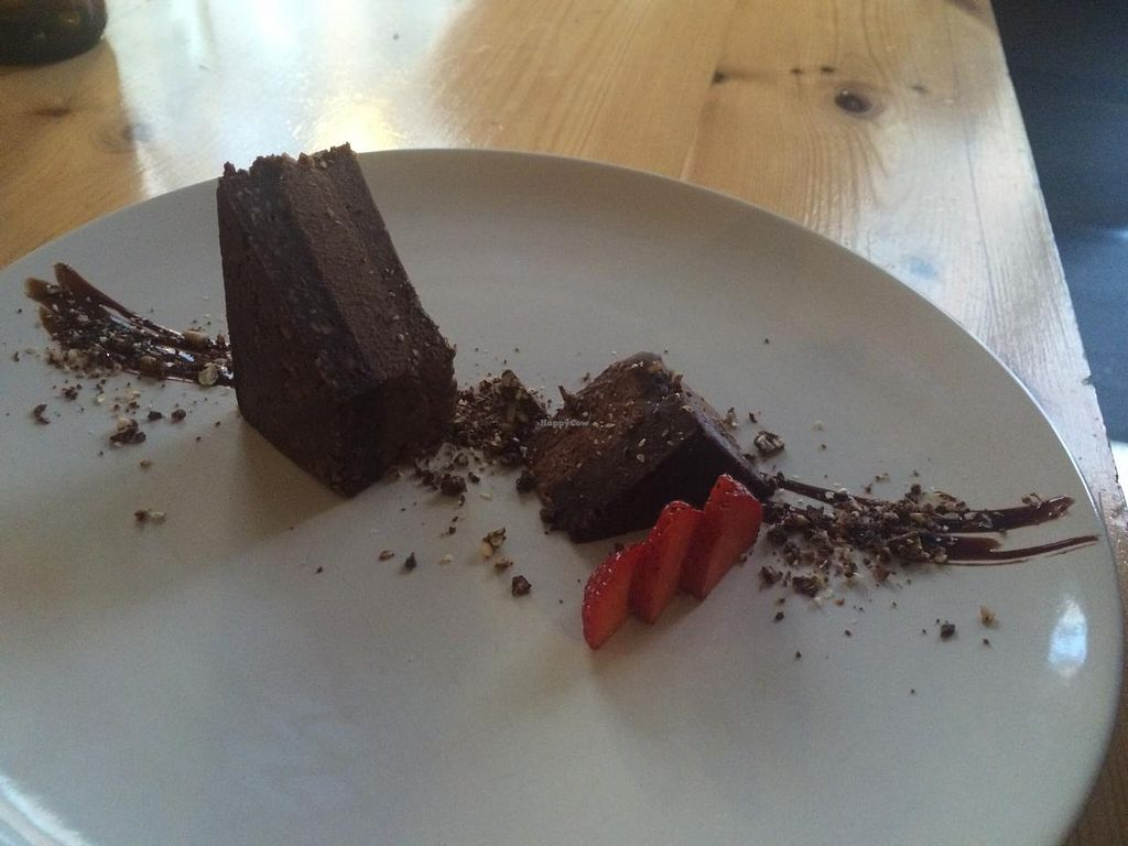 "Photo of CLOSED: simpleRaw - Oehlenschlaegersgade  by <a href=""/members/profile/VeganCookieLover"">VeganCookieLover</a> <br/>Triple chocolate cake <br/> June 11, 2015  - <a href='/contact/abuse/image/24669/105419'>Report</a>"