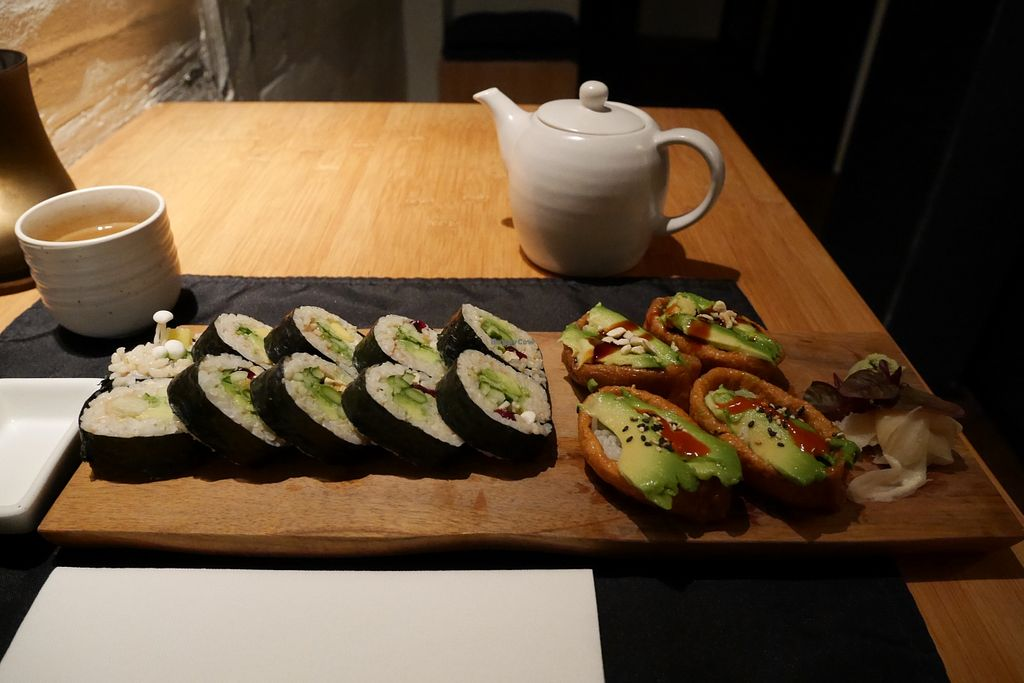 "Photo of REMOVED: Green Sushi  by <a href=""/members/profile/iokan"">iokan</a> <br/>Vegan set <br/> October 17, 2015  - <a href='/contact/abuse/image/24683/121642'>Report</a>"