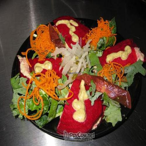 """Photo of NourishMe Health Food Store  by <a href=""""/members/profile/dfdf"""">dfdf</a> <br/>One of Kiki's creations- Kimichi with beat salad <br/> December 7, 2010  - <a href='/contact/abuse/image/24684/6508'>Report</a>"""