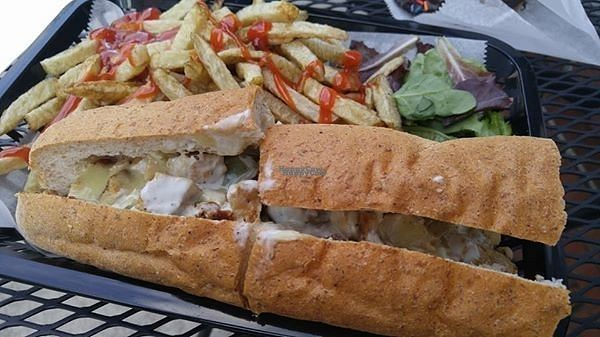 "Photo of Govinda's Gourmet To Go  by <a href=""/members/profile/rklevens"">rklevens</a> <br/>""Chicken"" cheesesteak with fries <br/> October 13, 2016  - <a href='/contact/abuse/image/2468/181663'>Report</a>"