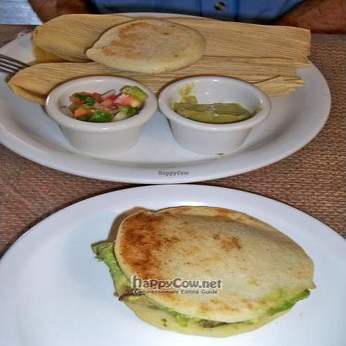 """Photo of CLOSED: Zudaka Restaurant  by <a href=""""/members/profile/laloofah"""">laloofah</a> <br/>Hallaquitas (tamales) and Reina Pepiada Arepa <br/> June 9, 2011  - <a href='/contact/abuse/image/24690/9126'>Report</a>"""