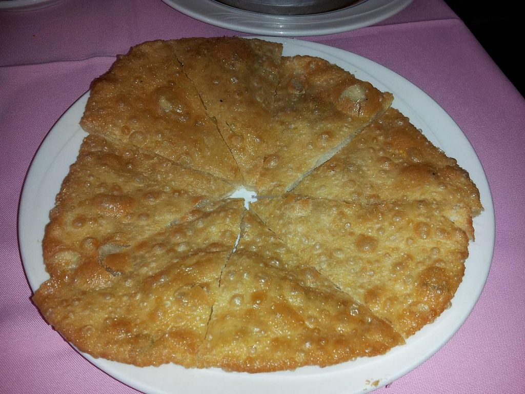 """Photo of New Harmony Vegetarian Restaurant  by <a href=""""/members/profile/bduboff"""">bduboff</a> <br/>Spinach Pancake - fresh but a bit too greasy and not enough spinach <br/> October 2, 2014  - <a href='/contact/abuse/image/2469/81919'>Report</a>"""