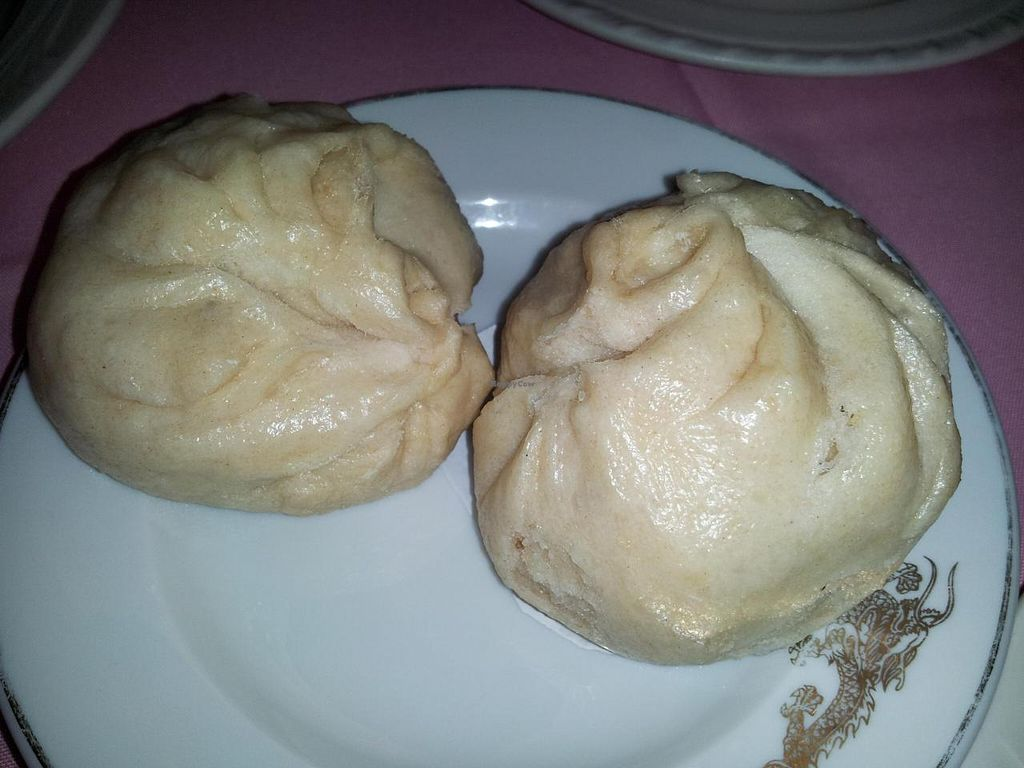 """Photo of New Harmony Vegetarian Restaurant  by <a href=""""/members/profile/bduboff"""">bduboff</a> <br/>Steamed Roast Pork Buns - homemade very good  <br/> October 2, 2014  - <a href='/contact/abuse/image/2469/81920'>Report</a>"""