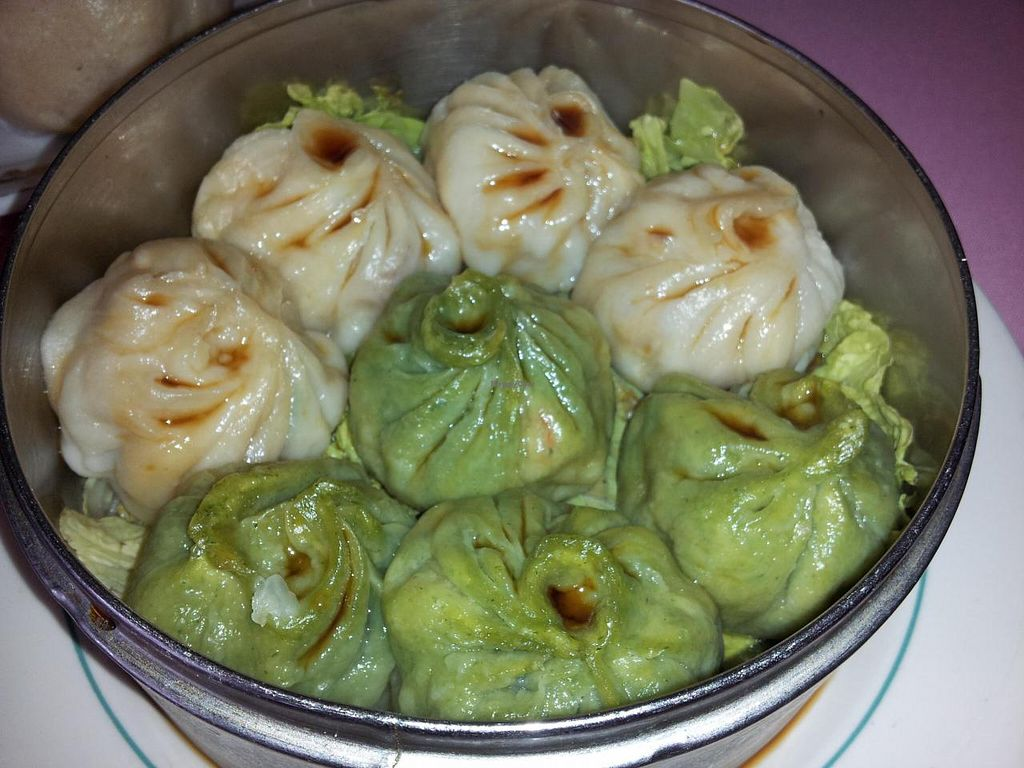 """Photo of New Harmony Vegetarian Restaurant  by <a href=""""/members/profile/bduboff"""">bduboff</a> <br/>Steamed Dumplings - very good <br/> October 2, 2014  - <a href='/contact/abuse/image/2469/81921'>Report</a>"""