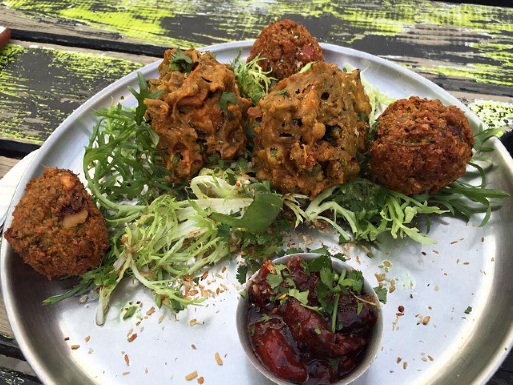 """Photo of Milgi  by <a href=""""/members/profile/Marilluon"""">Marilluon</a> <br/>Delicious vegan Indian platter  <br/> July 16, 2015  - <a href='/contact/abuse/image/24701/109575'>Report</a>"""