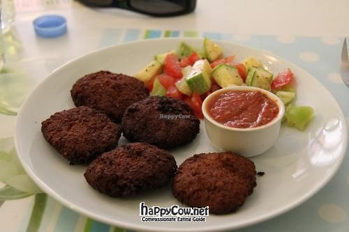"""Photo of CLOSED: Govinda - Beyoglu  by <a href=""""/members/profile/VeggieMon"""">VeggieMon</a> <br/>Falafel plate <br/> May 20, 2012  - <a href='/contact/abuse/image/24710/31974'>Report</a>"""