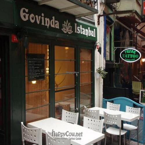 """Photo of CLOSED: Govinda - Beyoglu  by <a href=""""/members/profile/Jepulis"""">Jepulis</a> <br/>The facade of the restaurant. It has outside tables when it is warmer <br/> February 12, 2011  - <a href='/contact/abuse/image/24710/7365'>Report</a>"""