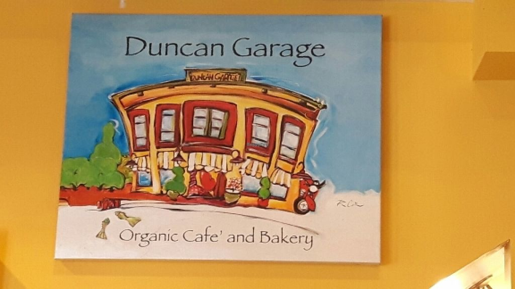 "Photo of Duncan Garage Cafe and Bakery  by <a href=""/members/profile/Josensei"">Josensei</a> <br/>Cafe sign <br/> March 23, 2016  - <a href='/contact/abuse/image/24719/141071'>Report</a>"