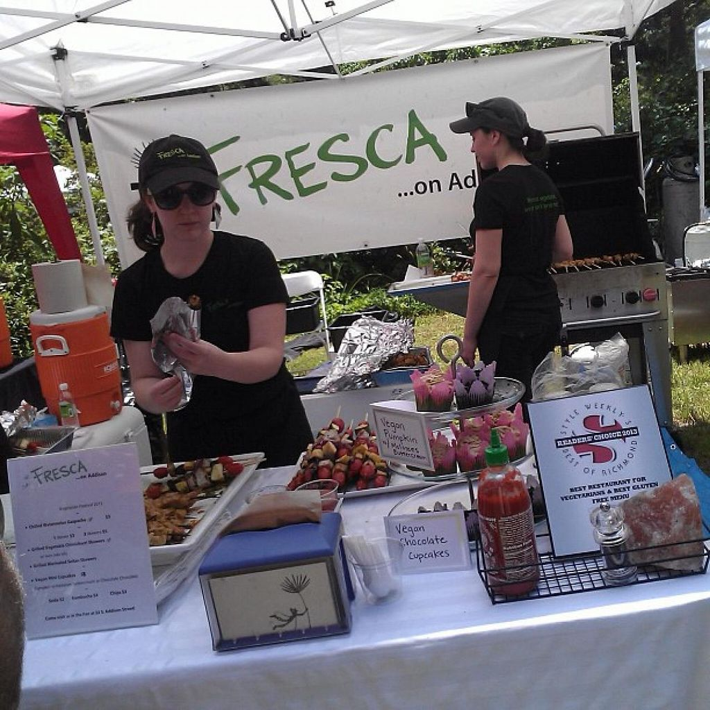 """Photo of Fresca on Addison  by <a href=""""/members/profile/meredith"""">meredith</a> <br/>Their Booth at the Richmond Vegetarian Festival. June 2013 <br/> January 9, 2014  - <a href='/contact/abuse/image/24738/62192'>Report</a>"""