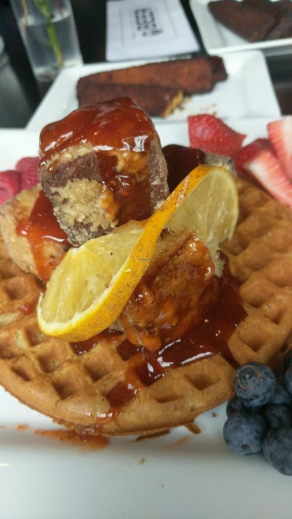 """Photo of The Owl House  by <a href=""""/members/profile/lizardlucas"""">lizardlucas</a> <br/>Tofu and waffles from their brunch menu! <br/> February 19, 2018  - <a href='/contact/abuse/image/24751/361118'>Report</a>"""