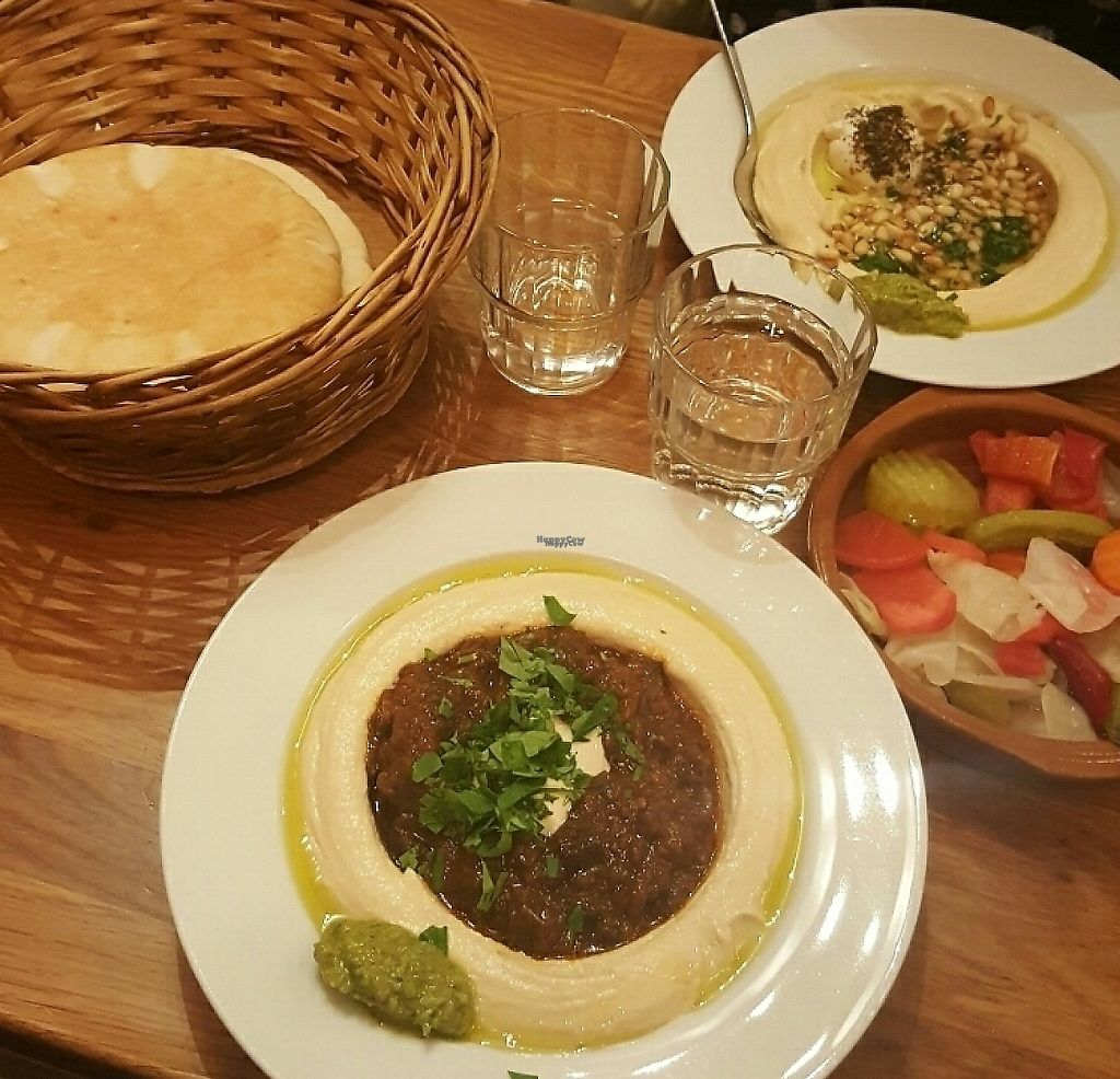"Photo of Reggev  by <a href=""/members/profile/johahenrik"">johahenrik</a> <br/>The most delicious and authentic hummus plates <br/> December 7, 2016  - <a href='/contact/abuse/image/24780/245989'>Report</a>"