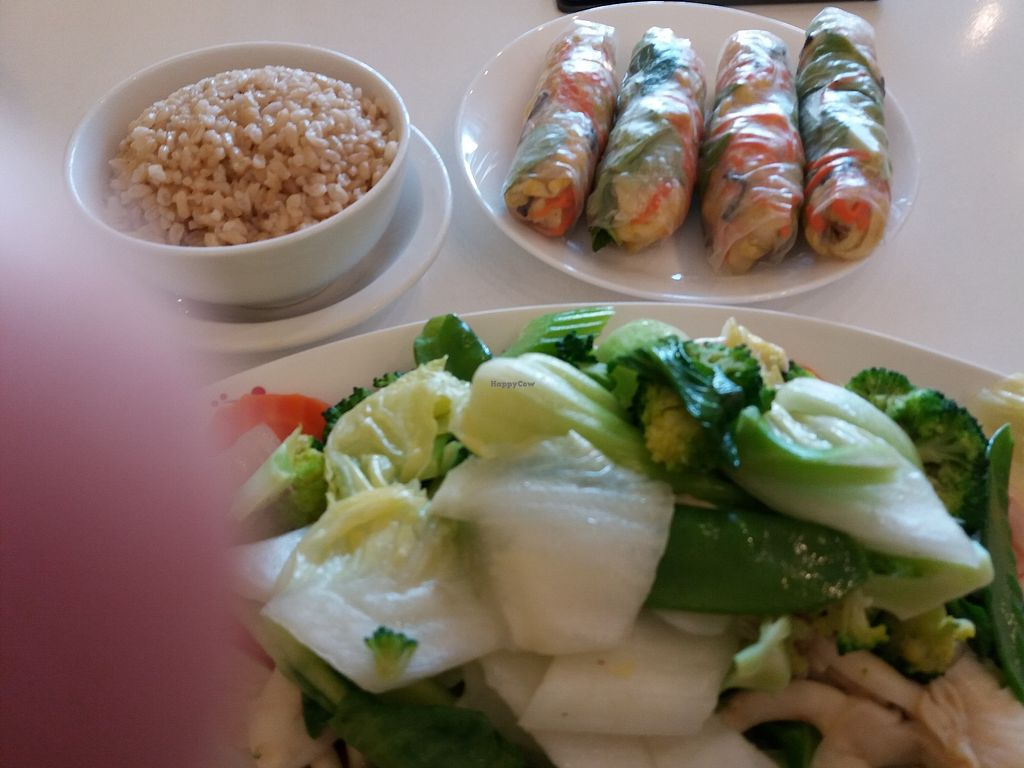 "Photo of CLOSED: Tofu House - Vegan Restaurant  by <a href=""/members/profile/veganvirtues"">veganvirtues</a> <br/>Mixed veggies and fresh spring rolls <br/> August 5, 2017  - <a href='/contact/abuse/image/24811/288885'>Report</a>"