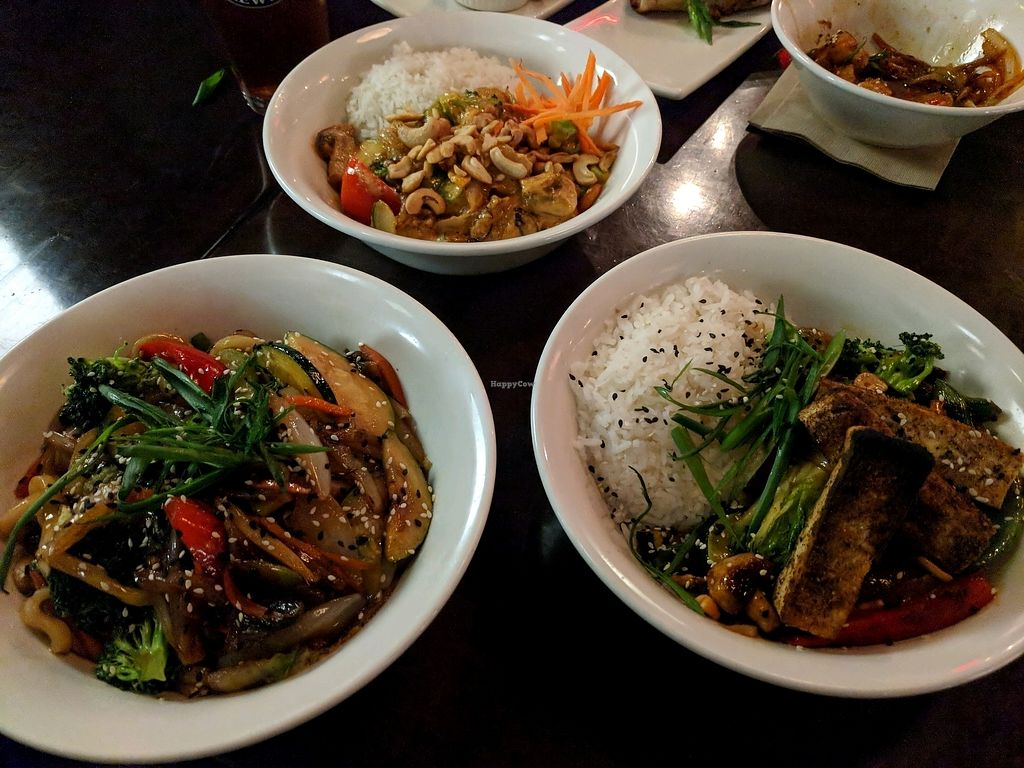 """Photo of Cafe Koi  by <a href=""""/members/profile/FurryFury"""">FurryFury</a> <br/>Some of the vegan mains <br/> January 30, 2018  - <a href='/contact/abuse/image/24815/352632'>Report</a>"""