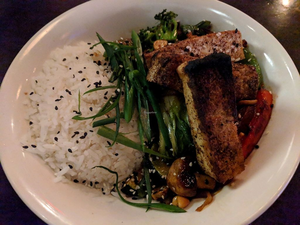 """Photo of Cafe Koi  by <a href=""""/members/profile/FurryFury"""">FurryFury</a> <br/>Delicious vegan main <br/> January 30, 2018  - <a href='/contact/abuse/image/24815/352633'>Report</a>"""