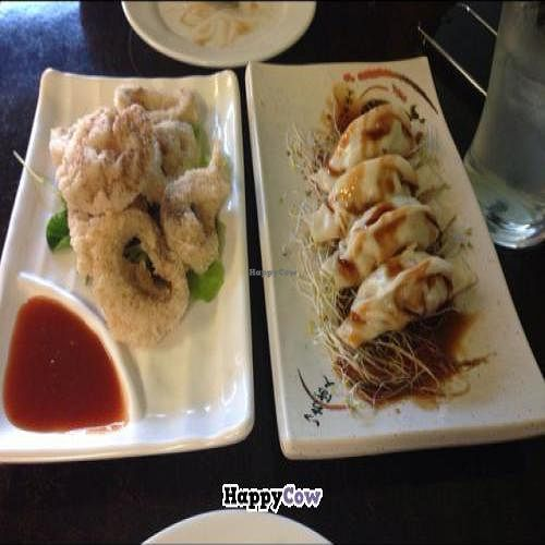 """Photo of CLOSED: Meesu Vegetarian Kitchen  by <a href=""""/members/profile/AaronTimo"""">AaronTimo</a> <br/>fried dumplings and veggie squid <br/> November 5, 2013  - <a href='/contact/abuse/image/24826/57930'>Report</a>"""