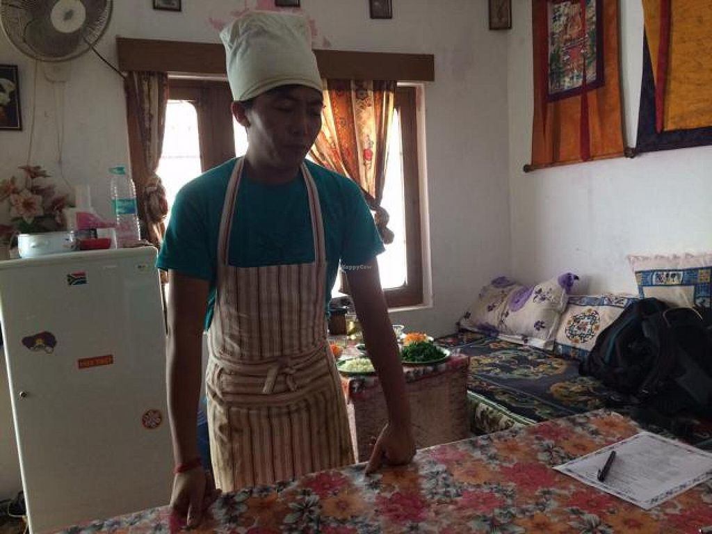 """Photo of Lhamo's Vegetarian Tibetan Cooking Classes  by <a href=""""/members/profile/Yogawithclaudia"""">Yogawithclaudia</a> <br/>chef Lhamo <br/> July 15, 2014  - <a href='/contact/abuse/image/24831/74100'>Report</a>"""