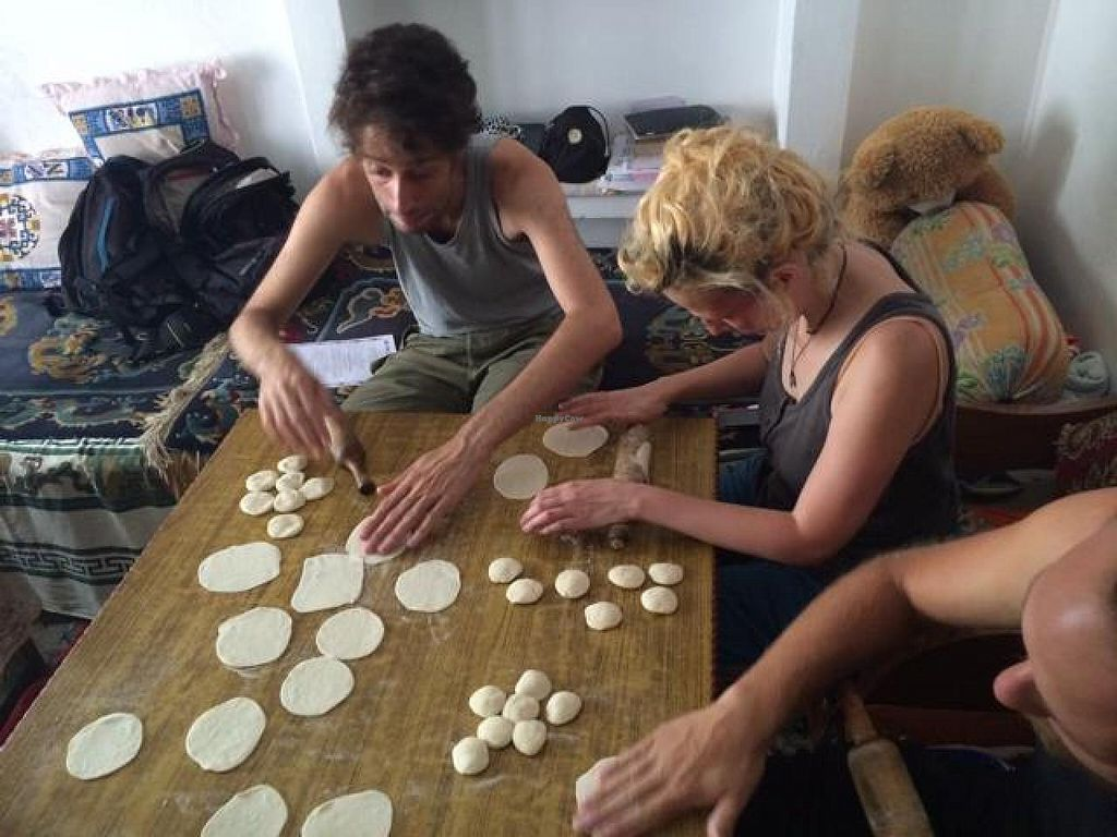 """Photo of Lhamo's Vegetarian Tibetan Cooking Classes  by <a href=""""/members/profile/Yogawithclaudia"""">Yogawithclaudia</a> <br/>momo making! <br/> July 15, 2014  - <a href='/contact/abuse/image/24831/74101'>Report</a>"""
